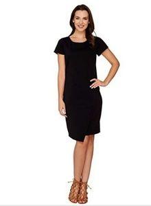 $52 LISA RINNA COLLECTION PONTE KNIT DRESS XXS